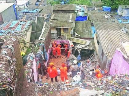 ten people died after being crushed under the ground in vikhroli | विक्रोळीत तीन कुटुंबे झाली उद्ध्वस्त; मातीखाली दबल्याने दहा जणांचा मृत्यू