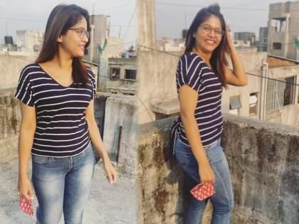 Tuzyat Jiv Rangala' fame Akshya Deodhar Modern look,video viral   अक्षया देवधरचा हा मॉडर्न लुक तुम्ही पाहिला का? गच्चीवरचा video Viral
