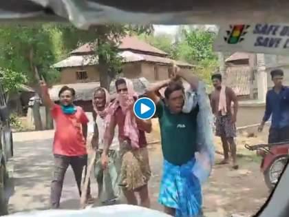 vmuraleedharan convoy in west bengal midnapore attacked allegation on TMC | Video : पश्चिम बंगालमध्ये केंद्रीय मंत्री व्ही. मुरलीधरन यांच्या ताफ्यावर हल्ला; कारच्या फोडल्या काचा