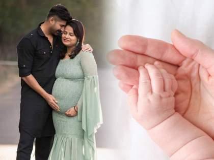 Actor Akshay waghmare blessed with baby girl   मुलगी झाली हो...अक्षय वाघमारेच्या घरी अवतरली 'नन्ही परी', अभिनेत्यावर होतोय अभिनंदनाचा वर्षाव