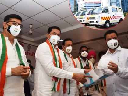 Congress will distribute 111 ambulances and 61 lakh masks, announced by Nana Patole | काँग्रेस पक्षाकडून १११ अॅम्ब्युलन्स व ६१ लाख मास्कचे वाटप करणार, नाना पटोलेंची घोषणा