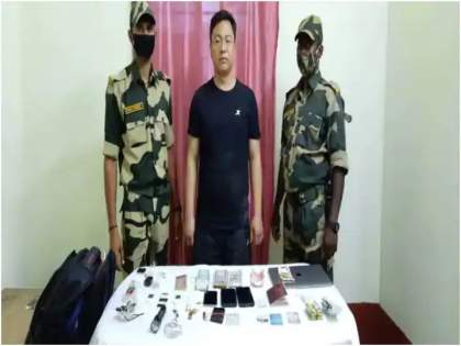Major action of BSF; Chinese detective arrested on India-Bangladesh border | BSFची मोठी कारवाई; भारत-बांगलादेश सीमेवर चीनी गुप्तहेराला बेड्या