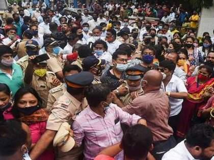 ... So We marched on Sena Bhavan against that front article; The BJP stated the exact reason   ...म्हणून त्या अग्रलेखाविरोधात सेनाभवनावर मोर्चा काढला; भाजपानं सांगितलं नेमकं कारण