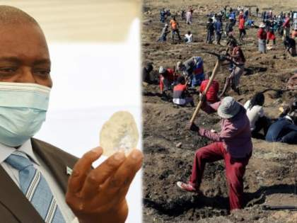 many people are digging in this south african village to discover mysterious stones | काय सांगता? 'या' ठिकाणी मातीत सापडताहेत हिरे; नशीब आजमावण्यासाठी हजारो लोकांची गर्दी