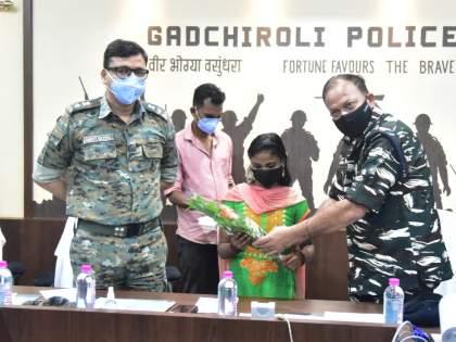 Surrender of women Naxals in Gadchiroli; Two lakh prizes were announced | महिला नक्षलीचे गडचिरोलीत आत्मसमर्पण; दोन लाखांचे बक्षीसकेले होतेजाहीर