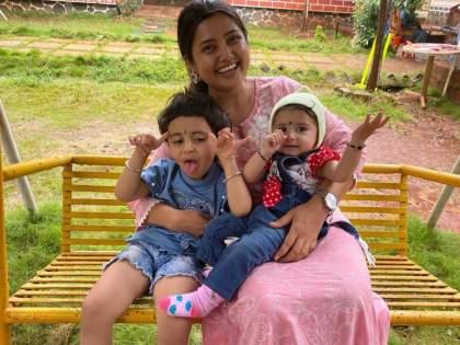 How cool everything is! Saying Prajakta Mali enjoyed a holiday with her nieces   सगळ कसं छान छान! म्हणत प्राजक्ता माळीने भाच्यांसोबत एन्जॉय केली सुट्टी, पहा तिचा हा व्हिडीओ