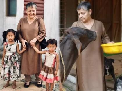 For This Reason Bollywood Yesteryear Actress Rakhi Gulzar Spending Time In Her Farmhouse In Panvel | जीना इसीका नाम है , वयाच्या ७३ व्या वर्षी राखी गुलजार करतात शेती, आता ओळखणेही जाते कठीण