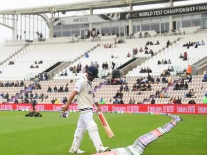 WTC final 2021 Ind vs NZ Test : Kyle Jamieson gets Virat Kohli for the second time & now removes Cheteshwar Pujara   WTC Final 2021 IND vs NZ : RCBच्या भीडूनं विराट कोहलीचा गेम केला; IPLच्या नेट्समध्ये ठरला होता प्लान अन्...
