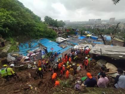 Chembur landslide, Vikhroli tragedy death name announced by BMC | Mumbai Chembur Landslide: चेंबूर, विक्रोळी दुर्घटनेतील मृतांची नावे जाहीर; मुसळधार पाऊस,वीज पुरवठ्यावर परिणाम