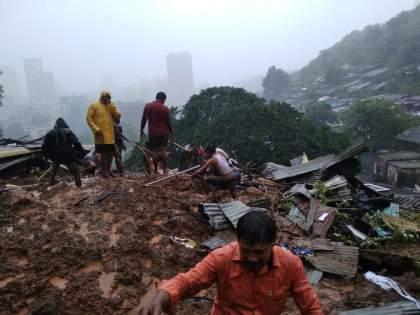 landslide in Thane's Kalwa Ghorai; 5 death, two people rescued | Thane Landslide: ठाण्यात दरड कोसळून ५ जणांचा मृत्यू;दोघांना वाचविण्यात यश