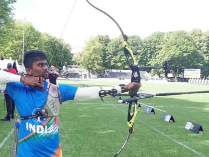 Tokyo Olympics: Indian archer Pravin Jadhav beats Galsan Bazarzhapov of Russian Olympic Committee 6-0 | Tokyo Olympics: मराठमोळ्या प्रवीण जाधवचा अचूक निशाणा, गाठली पुरुष गटाची उपउपांत्यपूर्व फेरी
