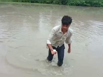 A flood of eggs came to the river, people jumped to collect | नदीला आला अंड्यांचा महापूर, गोळा करण्यासाठी लोकांनी मारल्या उड्या