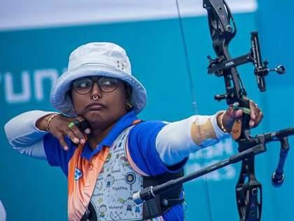 Tokyo Olympics: Deepika Kumari makes history, reaches Archery quarter finals with thrilling victory | Tokyo Olympics: दीपिका कुमारीने रचला इतिहास, रोमांचक विजयासह गाठली उपांत्यपूर्व फेरी