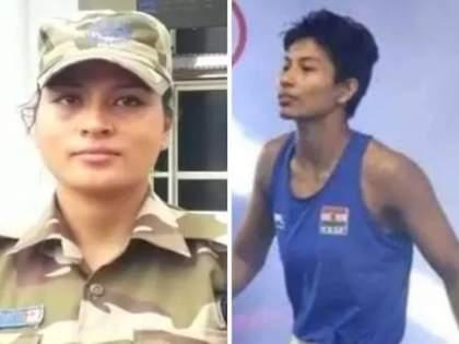 Lovelina Borgohain: One sister won a medal for the country, while the other is deployed for the defense of the country. | Tokyo Olympics: एका बहिणीने देशासाठी जिंकलं पदक, तर दुसरी देशाच्या संरक्षणासाठी आहे तैनात, ऑनड्युटीच केलं सेलिब्रेशन