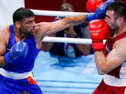Tokyo Olympics: Kaushik fought hard but lost in the semifinals; The fighting game was appreciated   Tokyo Olympics: रक्ताळला तरीही लढला सतिश, उपांत्यपूर्व फेरीत झाला पराभव; लढवय्या खेळाचे झाले कौतुक