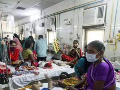 firozabad dengue 12 thousand patient 114 death no beds available in hospital   डेंग्यूचा हाहाकार! 88 चिमुकल्यांसह 114 जणांचा मृत्यू, तब्बल 12,000 लोकांना लागण, बेडसाठी रुग्णांची वणवण