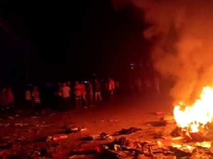 assam silchar tension breaks after minor girl death abduction murder gangraped police opens fire to mob   बलात्काराच्या घटनेवर लोकांचा संताप! भररस्त्यात गदारोळ, वाहनांची जाळपोळ; गर्दीवर पोलिसांचा गोळीबार