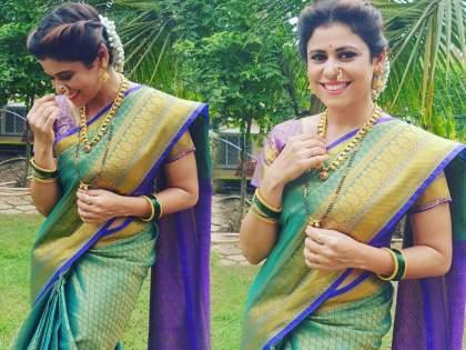 Aai Kuthe Kay Karte fame Anagha's post-wedding look photo goes viral   'आई कुठे काय करते'मधील अनघाचा लग्नानंतरचा लूक आला समोर?, फोटो होतोय व्हायरल
