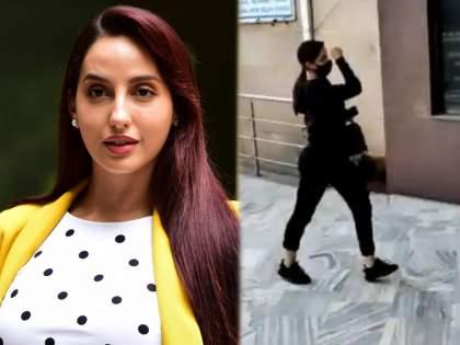 Actress Nora Fateh reaches in ED office for Rs 200 crore ransom case   २०० कोटीच्या खंडणीप्रकरणी अभिनेत्री नोरा फतेह ईडीच्या कार्यालयात दाखल