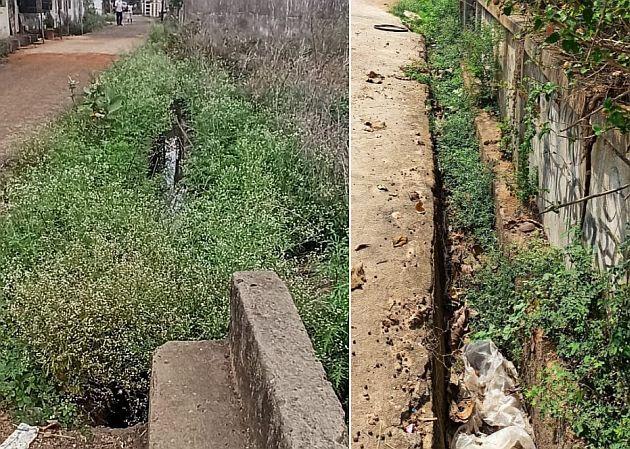 Drainage in Chamorshi will be incomplete   चामोर्शीत नाली उपशाचे काम अपूर्ण राहणार