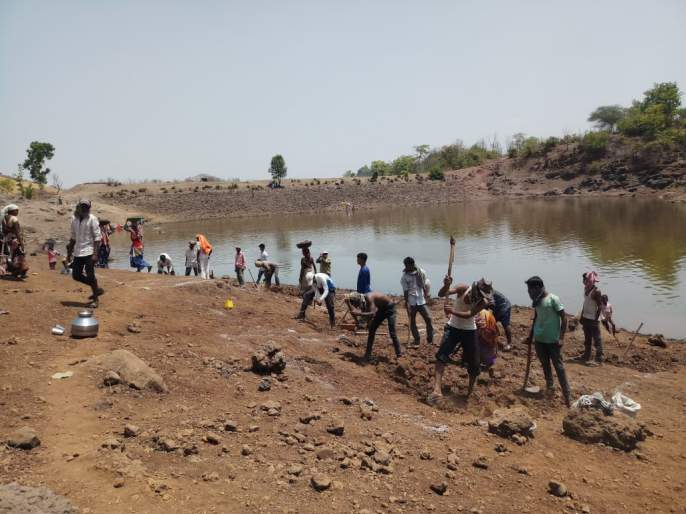 Peth taluka is great in the work of MGNREGA | 'मनरेगा'च्या कामात पेठ तालुका सरस