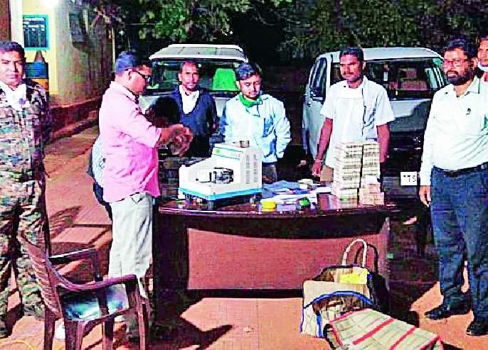 2.20 crore from Telangana seized | तेलंगणातून आलेले २.२० कोटी पकडले
