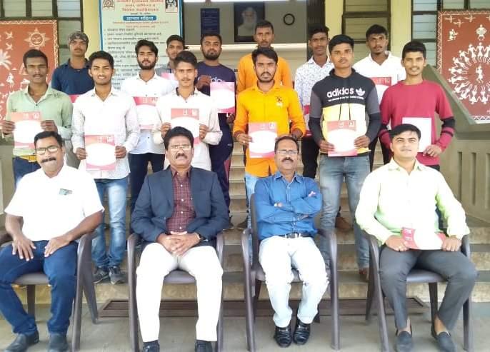 K.P.G. Allocation of NCC certificate in the college | के.पी.जी. महाविद्यालयात एन.सी.सी प्रमाणपत्र वाटप
