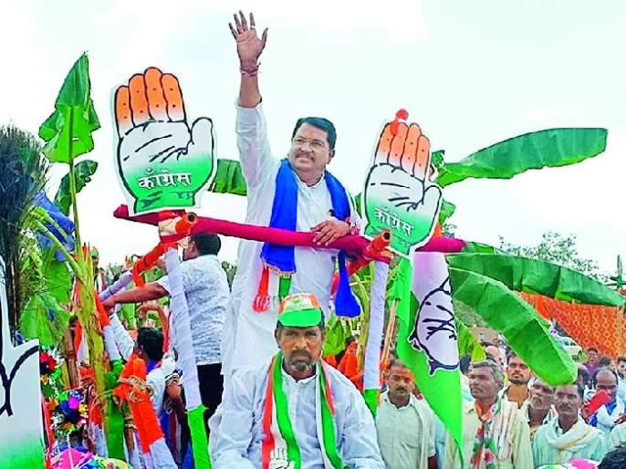 Maharashtra Election 2019 ; Vadettiwar's strong performance in Brahmapuri | Maharashtra Election 2019 ; वडेट्टीवारांचे ब्रह्मपुरीत जोरदार शक्तीप्रदर्शन