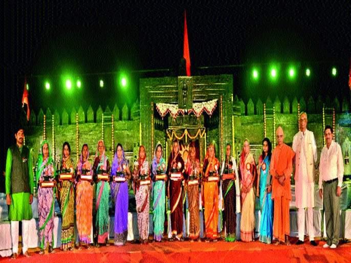 Raja Mother of the Mother of the Mother Jijau Prize Honor Tirtha Shivrai: Musical era musical speakers   वीर मातांचा राजमाता जिजाऊ पुरस्कारांनी सन्मान तीर्थ शिवराय : तेजस्वी युगपुरुषांचा संगीतमय चरित्रपट