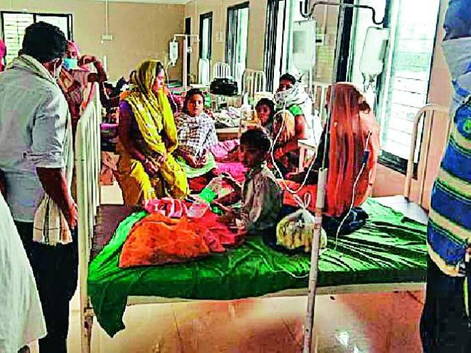 Poisoning of three Chimukals in Ghota village | घोटा गावातील तीन चिमुकल्यांना विषबाधा