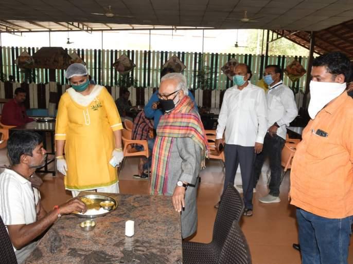 Visiting Shiv Bhoj Kendra from Chhagan Bhujbal | छगन भुजबळांकडून शिवभोजन केंद्रांची पाहणी