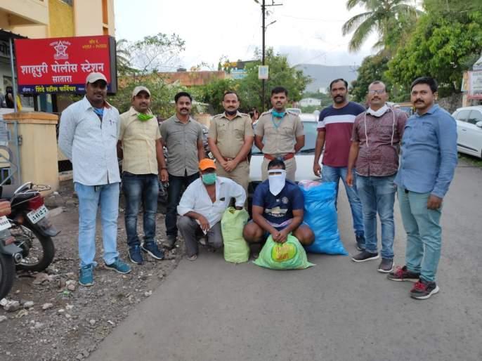 Gutkha stock found in car in Satara | साताऱ्यात कारमध्ये सापडला गुटख्याचा साठा
