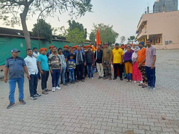 Departure of Belgaum Kurhe to Shirdi Palkhi Padayatra | बेलगाव कुऱ्हे ते शिर्डी पालखी पदयात्रेचे प्रस्थान