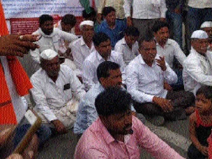 Stop the path of 'Swabhimani' on the Shirsadevi fate | शिरसदेवी फाट्यावर 'स्वाभिमानी'चा रास्ता रोको