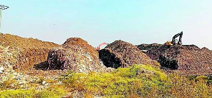 Processing of three lakh cubic meters of waste | तीन लाख घनमीटर कचऱ्यावर प्रक्रिया सुरू
