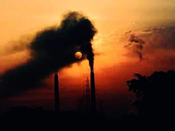Due to the pollution, the identity of Chandrapur has become black   प्रदूषणामुळे चंद्रपूरची ओळख काळवंडली