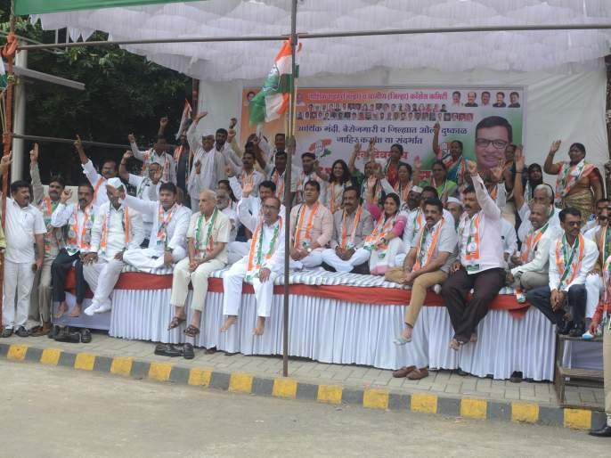 Congress protests against recession, inflation | मंदी, महागाईच्या विरोधात कॉँग्रेसची निदर्शने