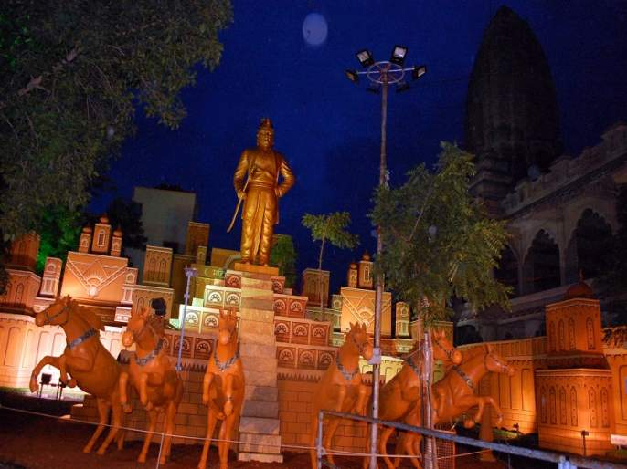 waluj ganesh festival reponse | रांजणगावात माहिश्मती देखाव्याची भुरळ