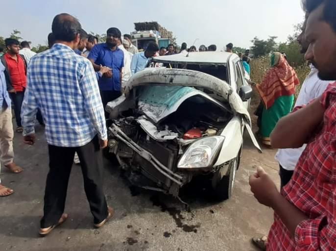 Car collides face-to-face with Atgadewadi; All four are serious | आटुगडेवाडीनजीक अपघातात मुंबईची महिला ठार, चारजण गंभीर