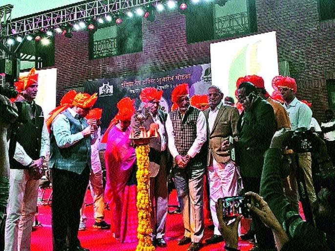 Launch of India Grape Harvest and Wine Festival Festival at Mohadi   मोहाडी येथे इंडिया ग्रेप हारवेस्ट व वाइन फेस्टिव्हलचा फेस्टिव्हलचा शुभारंभ