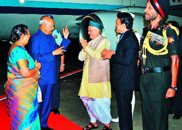 Ramnath Kovind's husband arrives in Nashik | राष्टÑपती रामनाथ कोविंद यांचे नाशिकमध्ये आगमन