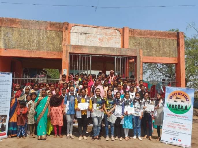 Distribution of sarees to women in Raigadnagar | रायगडनगर येथील महिलांना साड्यांचे वाटप