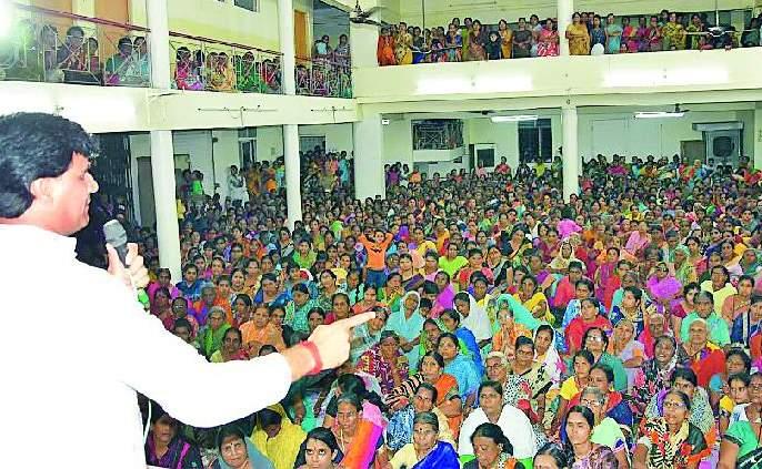 Maharashtra Election 2019 ; In the presence of Ravi Rana, a feminine power should be thanked | Maharashtra Election 2019 ; रवि राणांच्या उपस्थितीत नारीशक्ती कृतज्ञता मेळावा