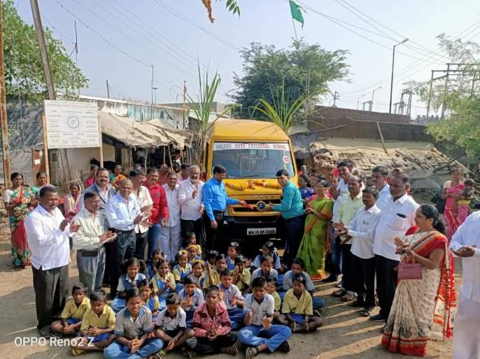Bus service for students from Janori Gram Panchayat | जानोरी ग्रामपंचायतीकडून विद्यार्थ्यांसाठी बससेवा