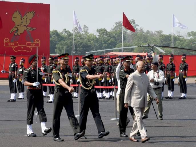 The bravery of the soldiers makes peace in the country | सैनिकांच्या शौर्यामुळे देशात शांतता नांदते : राष्टपती रामनाथ कोविंद