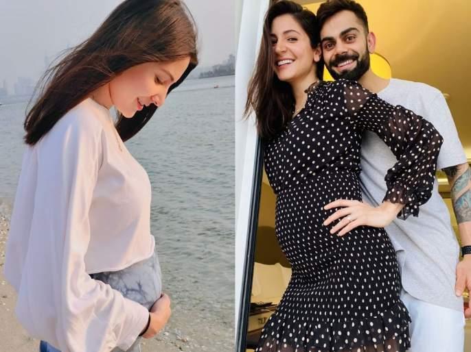 While Anushka Sharma was spotted floating on the beach, more than 45 lakh people liked the photo   समुद्र किनारीअनुष्का शर्मा दिसलीबेबी फ्लॉन्ट करताना, 45 लाखांहून जास्त लोकांनी फोटोला दिली पसंती