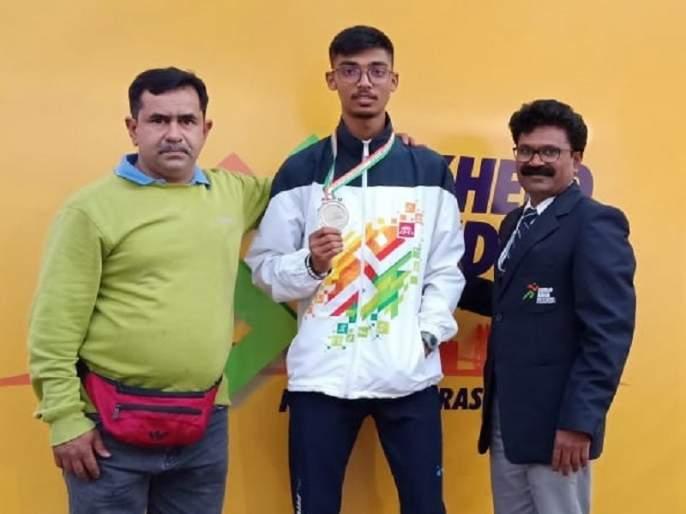 Silver in Aurangabad's Tejas won India Youth Games   औरंगाबादच्या तेजसने जिंकले खेलो इंडिया युथ गेम्समध्ये रौप्य