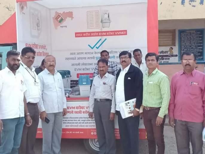 Polling Device Public awareness in Bhor | भोर येथे मतदान यंत्र जनजागृती