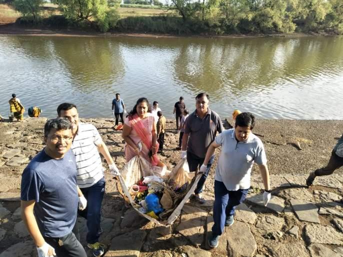 Panchaganga cleanliness under 'Namami Panchgange' | 'नमामी पंचगंगे'अंतर्गत पंचगंगेची स्वच्छता