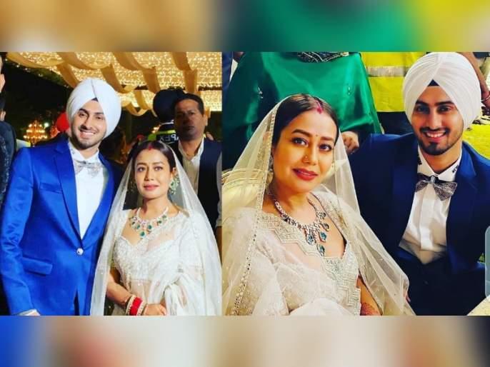 VIDEO: Neha Kakkar and Rohanpreet Singh's grand reception held in Punjab, her mother-in-law gave her a warm welcome | VIDEO: नेहा कक्कर आणि रोहनप्रीत सिंगचे पंजाबमध्ये पार पडलं ग्रॅण्ड रिसेप्शन, सासरी तिचे झाले जंगी स्वागत